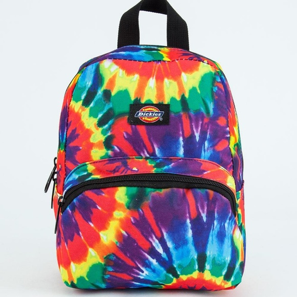 9aa200f1ca9 90s Rainbow Tie Dye Rave Festival Mini Backpack